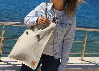 Sacs et cabas - SAC TOILE LIN LENA- Made In France - AMWA AND CO