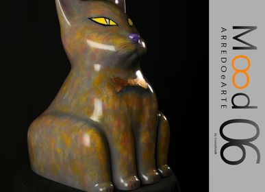 Unique pieces - Bianca Miao - CeraMicinoARTE - a Cat statuette - Unique Art piece made by Elvino Echeoni - MOOD06 ARREDO E ARTE BY COMPUTARTE