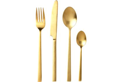 Cutlery set - Cutlery 16pc. brass satin finish - BITZ