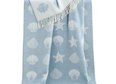 Throw blankets - Seashells Throw - J.J. TEXTILE LTD