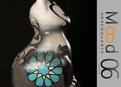 Pièces uniques - Bianca Miao - CeraMicinoARTE - une statuette de chat - Pièce d'art unique créée par Irem Incedayi - MOOD06 ARREDO E ARTE BY COMPUTARTE®