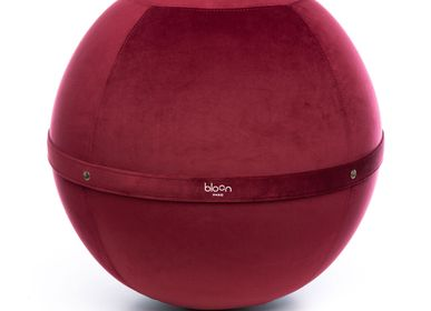 Assises pour bureau - Bloon Velvet - Rouge Rubis - BLOON PARIS