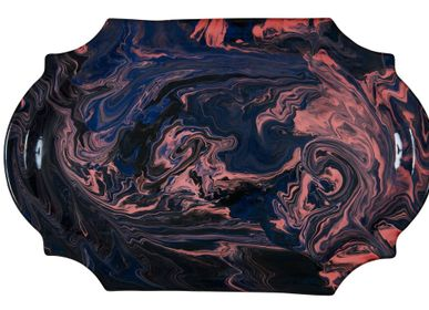 Platter and bowls - Chahut tray MAGMA IOM Large model - IOM INES-OLYMPE MERCADAL