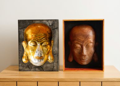 Unique pieces - Lacquered Buddha's Face - THE ANNAM HOUSE