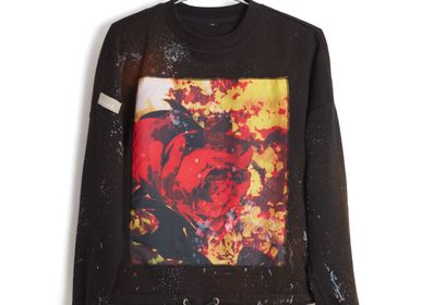 Apparel - EmotionDust RedFlower, sweatshirt - RECLS ®