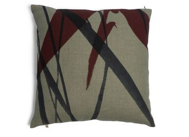 Cushions - Estrelicias & Bamboo Leaves cushion cover - TRACES OF ME