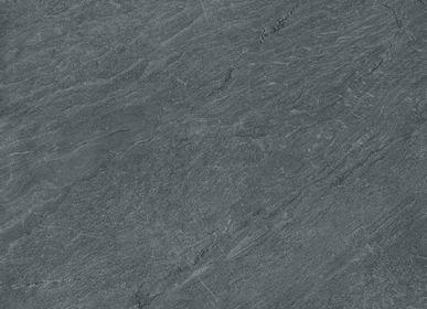 Kitchen splash backs - Pietra di Cardoso (Grigio or Nero) coverings - LAMINAM FRANCE