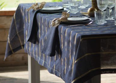 "Linge de table textile - Nappe 100% lin "" Righe 2019 "" - EVA"