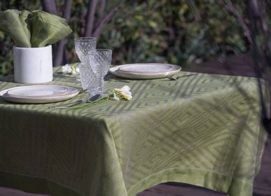 "Table linen - Tablecloth 100% linen ""Geometric"" - EVA"