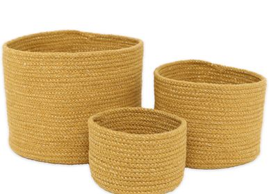 Children's decorative items - SET OF 3 BASKETS ILSE HONEY - NATTIOT