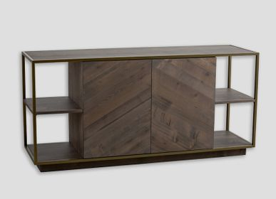 Chests of drawers - wooden sideboard - DIALMA BROWN