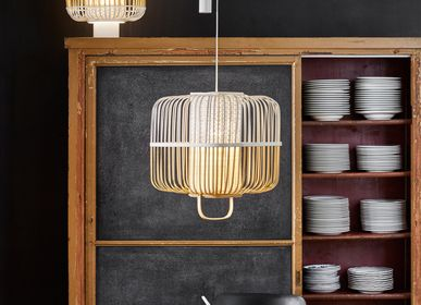 Hanging lights - Pendant Lamp BAMBOO SQUARE - FORESTIER