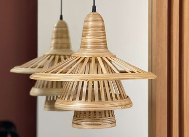 Objets design - KARIMATA Lampe suspendue en bambou fait main - BAMBUSA BALI