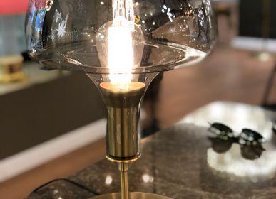 Lampes de table - Lampe de table en verre champignon - ATOLYE STORE