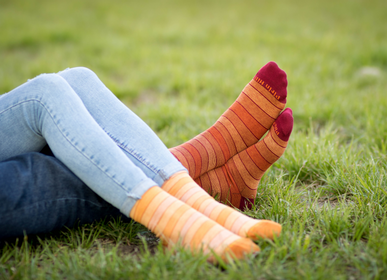 Socks - Striped Socks 98% Organic Cotton Corespun - PIRIN HILL