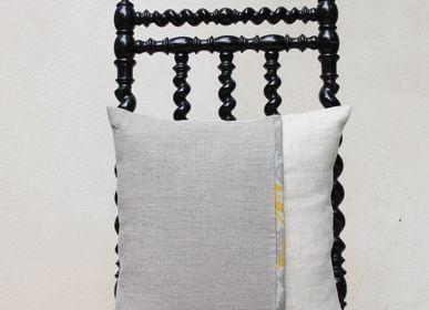 """Fabric cushions - Berlingot cushion """"le perle"""" - 40x40cm - L'ATELIER DES CREATEURS"""
