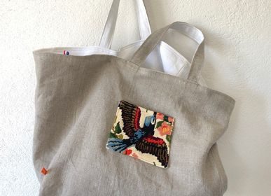 "Bags and totes - Tote bag vice versa ""the titmouse"" - L'ATELIER DES CREATEURS"