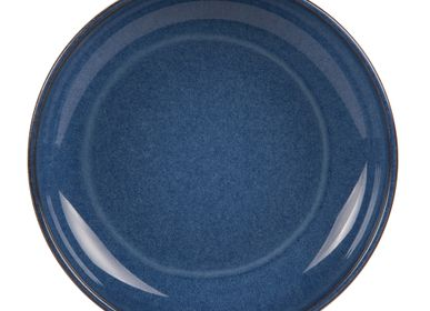 Assiettes au quotidien - ASSIETTE CALOTTE DE 22 CM UNO COBALT - TABLE PASSION