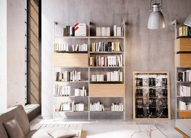 Bookshelves - Giostra L wall-mounted bookcase - DAMIANO LATINI