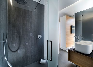 Kitchen splash backs - Pietra di Savoia Antracite coverings - LAMINAM FRANCE