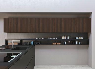 Kitchen splash backs - Calce Nero coverings - LAMINAM FRANCE