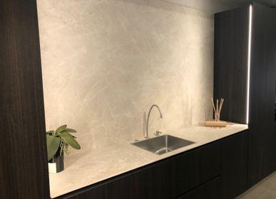 Kitchen splash backs - Diamond Cream coverings - LAMINAM FRANCE