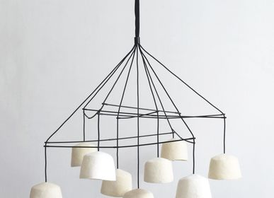 "Decorative objects - Large Mobile ""Q.""Felt - 9 Suspensions - PO! PARIS"