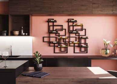Wine accessories - Caos wall-mounted wine holder - DAMIANO LATINI