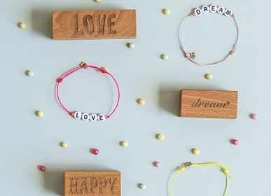 Bijoux - Bracelet à cordon lettres  - OBI OBI