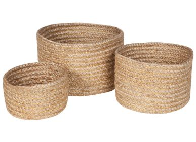 Decorative objects - SET OF 3 BASKETS ABHA - NATTIOT