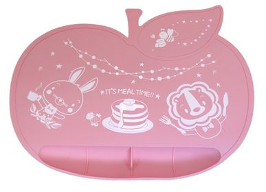 Children's mealtime - Apple Shaped Silicone Placemat - ANGELETTE