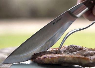 Knives - Angus Handmade Stainless Steel Steak knife set for meat lovers - LEGNOART