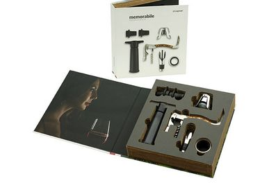 Wine accessories - Memorabile Wine Connoisseur Grand Set for wine enthusiasts - LEGNOART