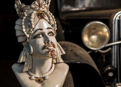 Céramique - Objet décoratif en céramique Maure Heads  - ARTEFICE ATELIER