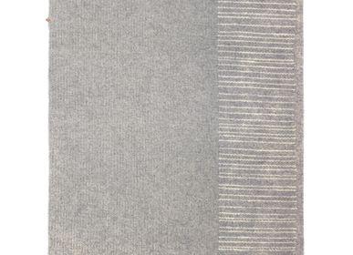 Rugs - Tapis gris tissé main - Modèle Cadratin - LAINES PAYSANNES