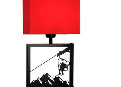 Table lamps - Table lamp black frame chairlift - CRÉATIONS LÉONIE'S FRANCE
