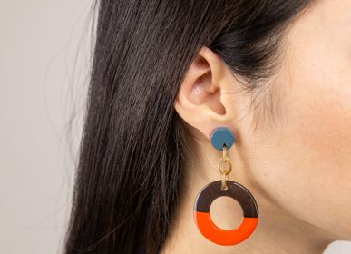 Jewelry - Two-tone lacquered earrings - L'INDOCHINEUR PARIS HANOI