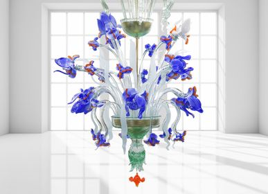 Hanging lights - IRIS BLU - BOTTEGA VENEZIANA