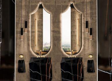 Hotel bedrooms - DIAMOND FAUX MARBLE FREESTANDING - MAISON VALENTINA