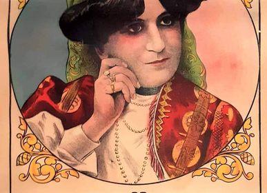 "Poster - ""LA MAINA"" Original interlining poster  - L'ATELIER D'ANGES HEUREUX"