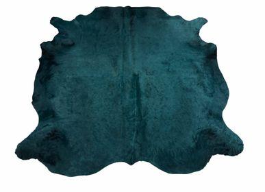 Tapis classiques - Peau de vache bleue pétrole - TERGUS
