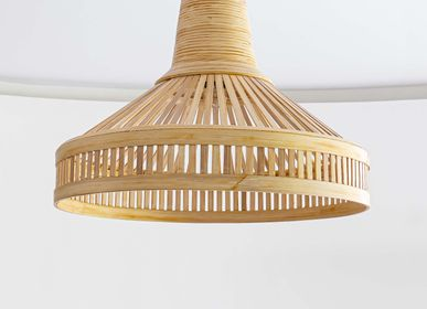Suspensions - KUTA Lampe suspendue en bambou fait main, suspension  - BAMBUSA BALI