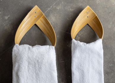 Towel racks - BURU handmade bamboo tower rack for bathroom, toilet and kitchen - BAMBUSA BALI