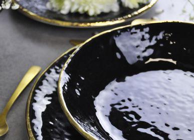 Pièces uniques - Preta Gold | Assiettes en céramique | Made in Italy - ARCUCCI TRADE SRL