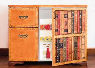 Bureaux - Table de chevet Minibar - Cuir.  - MARIE MAISON SICILIAN DESIGN