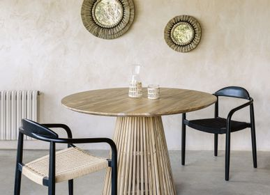 Chaises - Table Jeanette Ø 120 cm finition naturelle - KAVE HOME