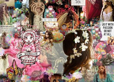 "Paintings - ""Baboushka"" Collage Limited Edition - L'ATELIER D'ANGES HEUREUX"
