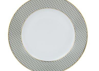 Formal plates - Dark grey dinner plate (Pied de Poule) - LEGLE