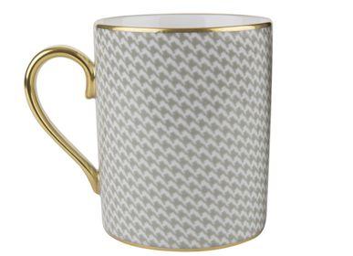 Mugs - Dark grey mug  (Pied de Poule) - LEGLE