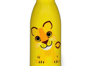 Accessoires enfants - Collab Qwetch & Coq en Pâte - Gourde inox simple paroi Lion 500ml - COQ EN PATE